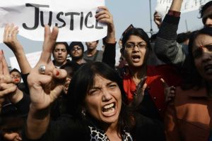 Thousands take to the streets in Delhi to demand justice.