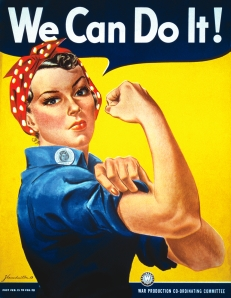 The famous image was used to promote feminism in the 1980s but was originally drawn to be used as WWII propaganda.
