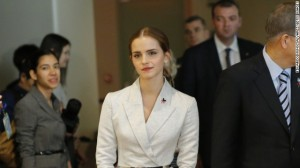 Emma Watson, at the UN