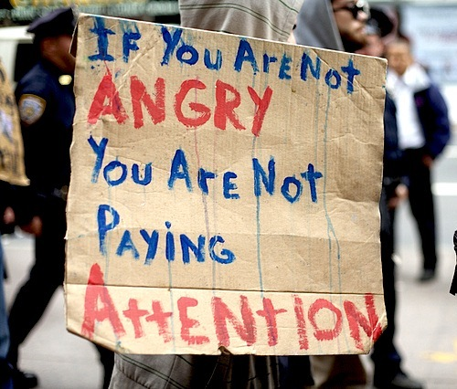 if you are not angry